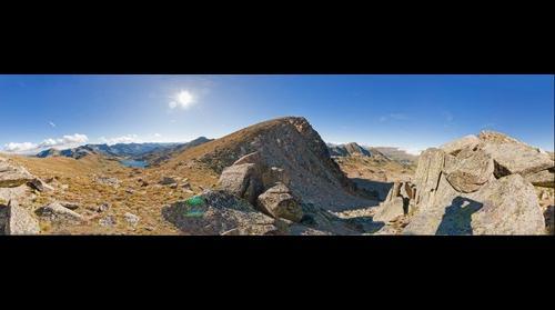 Panoràmica de 360º de la portella de Pessons / 360 degree panorama of Portella de Pessons