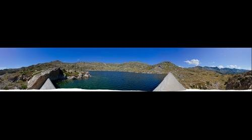 Panoràmica de 360º de la presa de l'estany de l'Illa (oest) / 360 degree panorama of Illa Lake dam (west side)