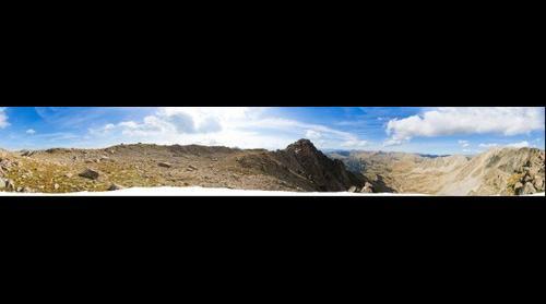 Panoràmica de 360º del pic de Setut venint de la Tossa Plana / 360 degree panorama of Setut, Madriu and Tossa Plana