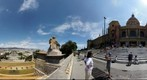 360 degree view outside Palau Nacional, Barcelona.