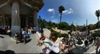 360 view at entrance to park guell, Barcelona