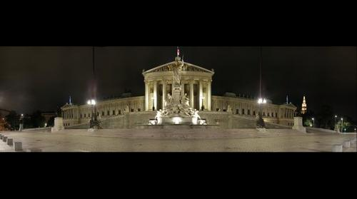 Parliament @night, Vienna, Austria