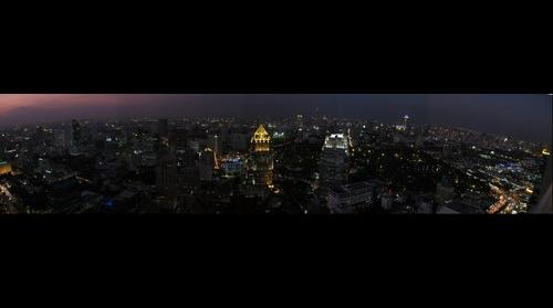 Bangkok Night View from Banyan Tree Hotel