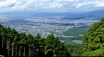 View over peripheral part of Kyoto
