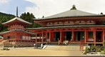 Kyoto Enryaku-ji Tenday Monastery with East Pagoda and Amida Hall on Mount Hiei
