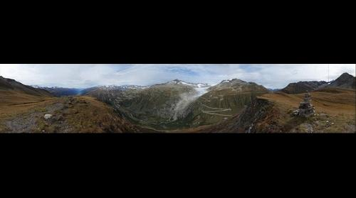 Furkapass, Grimselpass, Rhonegletscher, Obergoms
