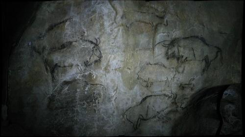 Salon Noir in Grotte de Niaux: Far Left Panel