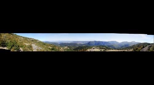 Vue de la vallee de Privas du haut de Creysseilles - Ardeche