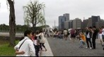 Tourists by the Bridge - Imperial Palace - Tokyo, Japan