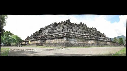 Borobudur, Java, Indonesia, North East corner, unprocessed