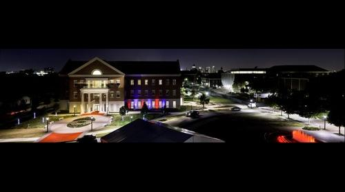 Annette Caldwell Simmons Hall at Night