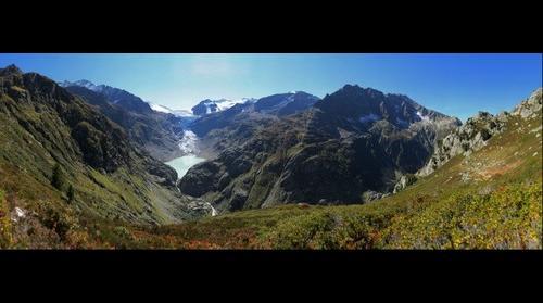 Trift Gletscher und Bruecke