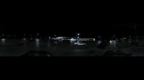 Super K Parking Lot at Night