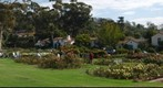 100930 Santa Barbara A. C. Postel rose garden with art class and Plaza Rubio homes