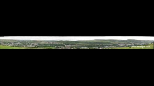 Tredegar - View from West Valley, looking across and down towards main town area.