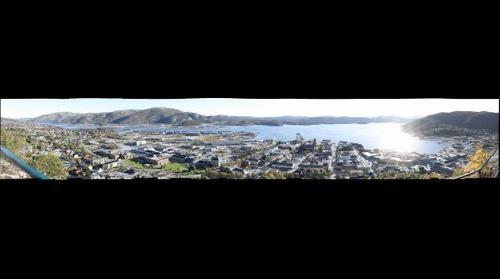 Namsos, utsikt fra Klompen