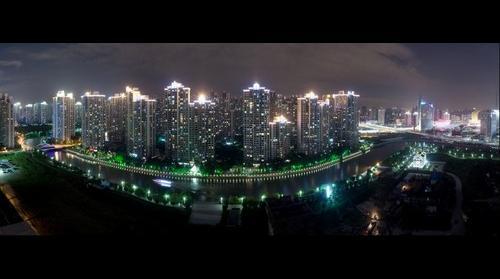 Suzhou River in Shanghai at Night