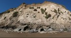 100922 Goleta, California, bluff and beach caves below Bacara on Haskell beach