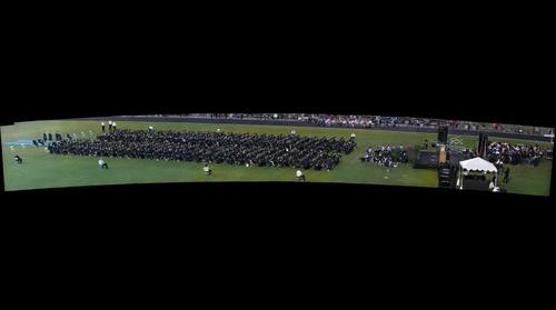 Highland High Schoo,l Gilbert AZ Graduation 2010  pano #2