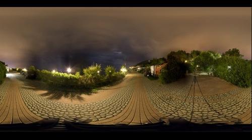 ITALY - LIGURIA - SAN REMO - VILLAGGIO DEI FIORI - promenade - pano sferica HD - Sanremo vdf
