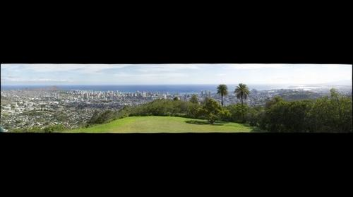 Honolulu from Round Top