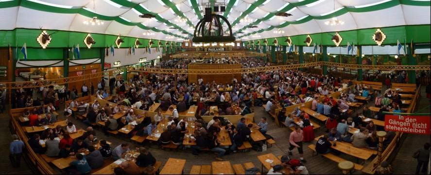 Paulaner Beer Tent Oktoberfest 2010 Muncih & Panoramic Photography | Panoramic Images | Hi-Res Images | GigaPan