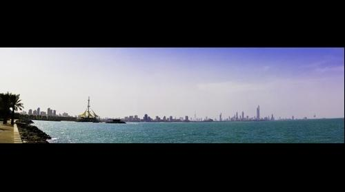 Kuwait Downtown Skyline