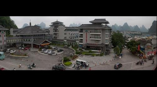 View from my hotel room at the Guifu Hotel in Yangshuo, Guilin