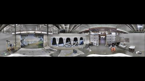 Artist Andrew Johnstone's studio