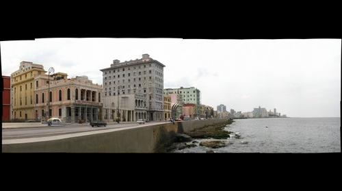 Cityscape and Seawall - Havana