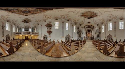Schwaebisch Gmuend, St Franziskus Kirchenschiff