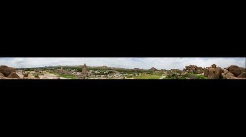 Panoramic View of Virupaksha Temple & surroundings from Hemkuta Hill, Hampi