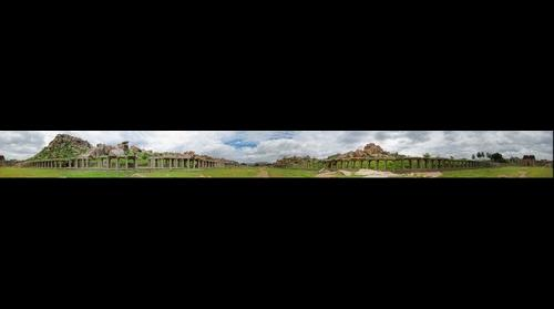 Courtesan's Street, Hampi 360 pano