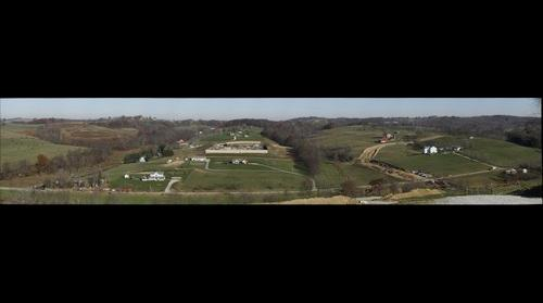 Marcellus Gas Drilling Bird's Eye View
