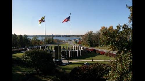 Maryland World War II Memorial north of Annapolis, Maryland