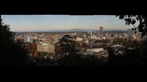 Downtown Portland in the Fall
