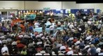 090805 Reno, Nevada, Hot August Nights, convention center, Silver Auctions crowd old cars