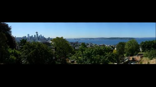 Seattle Skyline, Puget Sound, and Mount Ranier