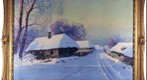 Hamlet winter landscape