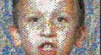 Photomosaic of a boy's portrait