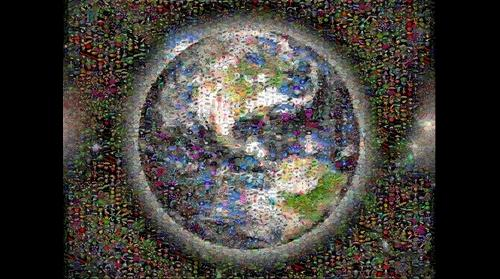 Photomosaic image of the earth
