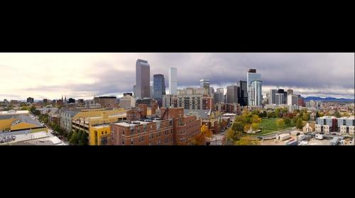 Denver Colorado Skyline Panorama