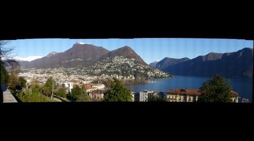 Lugano dal Parco del Tassino
