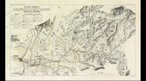 Cuenca del río Guadalete, manantiales y conducciones hacia Jerez, por don Ángel Mayo, 1877. (*Obra derivada)