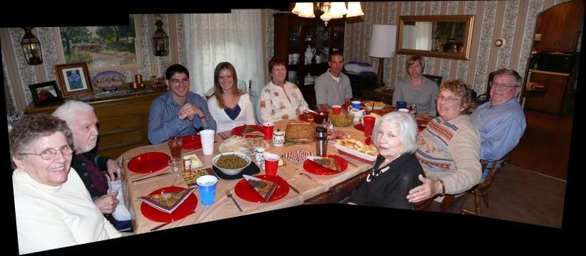 American family dinner