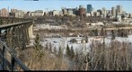 High Level Bridge and Skyline in Edmonton