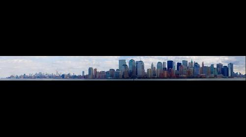 Panorama of Manhattan from Liberty State Park, NJ