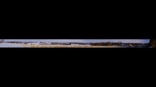 Danish snow landscape