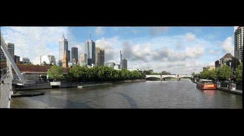 Yarra Riverfront and Princes Bridge - Melbourne