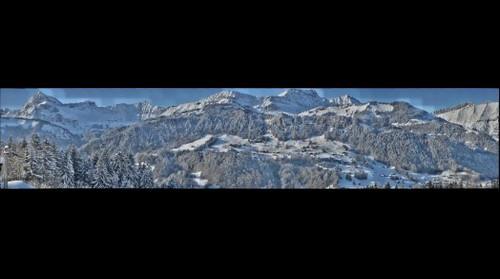 Les Aravis vue deCrest-Voland